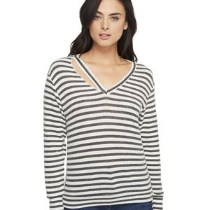 LNA slash stripe long sleeve top